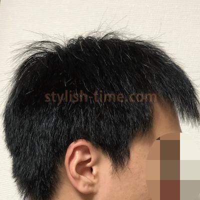洗髪後の横髪