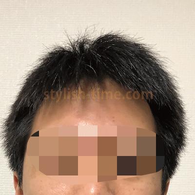 洗髪後の前髪